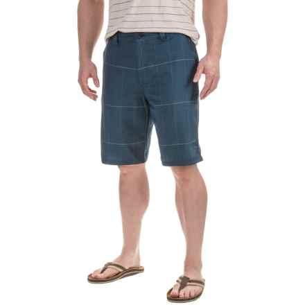 Printed Shorts (For Men) in Navy Bracket Glen - 2nds