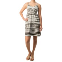 Printed Spaghetti Strap Dress - Cotton-Modal (For Women) in Brown - 2nds