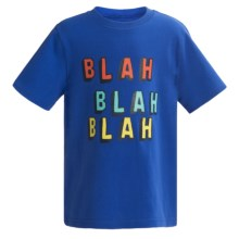 Printed T-Shirt - Short Sleeve (For Infant and Toddler Boys) in Blue Blah/Blah/Blah - 2nds