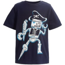 Printed T-Shirt - Short Sleeve (For Infant and Toddler Boys) in Navy Pirate - 2nds