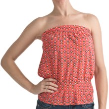 Printed Tube Top - Elasticized Waist (For Women) in Peach - 2nds