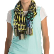 Printed Woven Scarf (For Women) in Blue Dawn Safari - 2nds