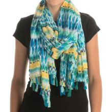 Printed Woven Scarf (For Women) in Skywritting - 2nds