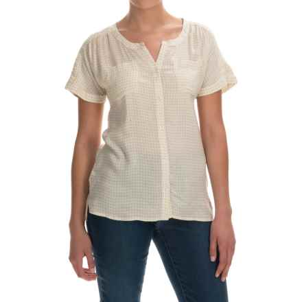 Printed Woven Shirt - Short Sleeve (For Women) in Ivory - 2nds