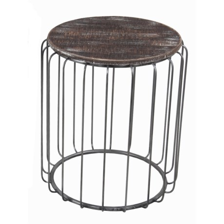 "Privilege Accent Table - 16x16x18"" in Brown/Silver"
