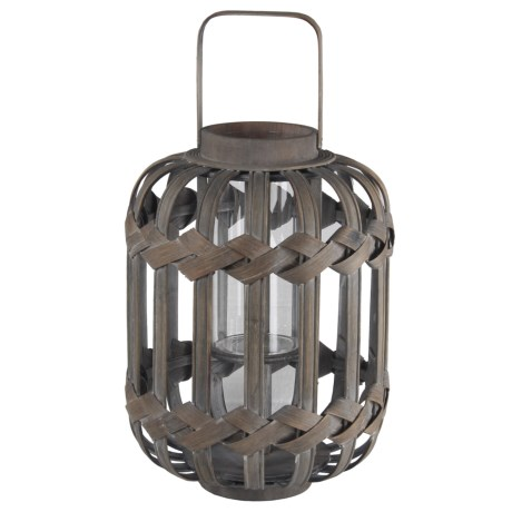 Privilege Dome Wood Lantern in Grey