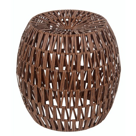 Privilege Resin Wicker Stool in Brown