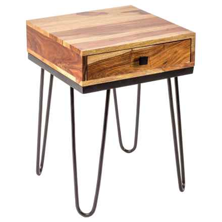 Privilege Single-Drawer Accent Stand in Natural/Black - Closeouts