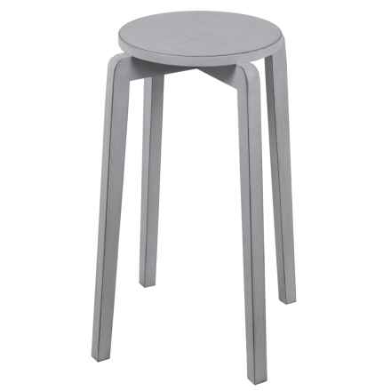 Privilege Stackable Accent Stool in Smoke Ash - Closeouts
