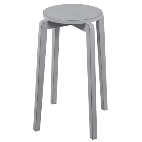 Privilege Stackable Accent Stool in Smoke Ash