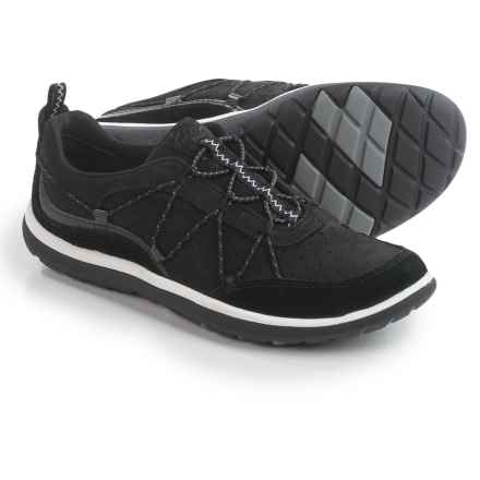 Privo by Clarks Aria Flyer Sneakers - Leather (For Women) in Black Leather - Closeouts