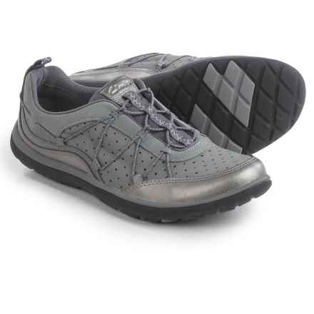 Privo by Clarks Aria Flyer Sneakers - Leather (For Women) in Pewter Leather - Closeouts