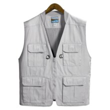 Pro Cam-Fis Travel-Fishing Vest (For Men) in Grey - Closeouts