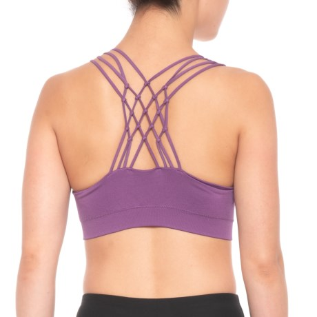 Pro-Fit Knotted Back Sports Bra - Low Impact (For Women) in Concord Grape