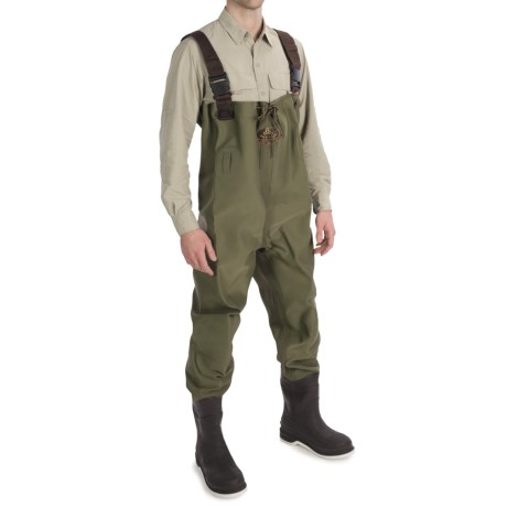 Pro Line 3-Ply Stretch Chest Waders - Felt Sole, Insulated (For Men) in Khaki