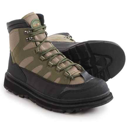 Pro Line Pro-Clear Wading Boots - Sticky Rubber Outsole (For Men) in Tan/Green - Closeouts