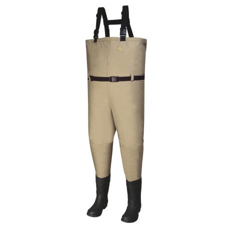 Pro Line Wallkill Chest Waders - Bootfoot, Felt Sole (For Men and Women) in Tan
