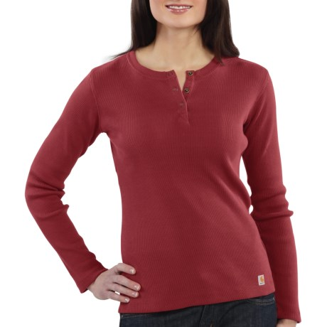 Carhartt Henley Shirt - Long Sleeve (For Women)