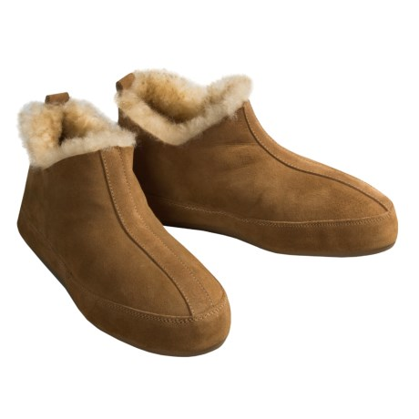 Acorn V-Neck Booties - Sheepskin (For Women)