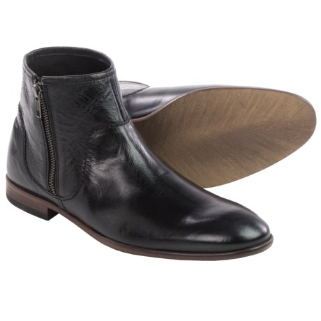 H by Hudson Songsmith Leather Ankle Boots (For Men)