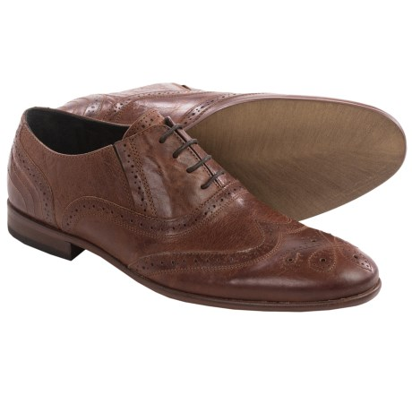 H by Hudson Songsmith Brogue Oxford Shoes - Wingtip, Leather (For Men)