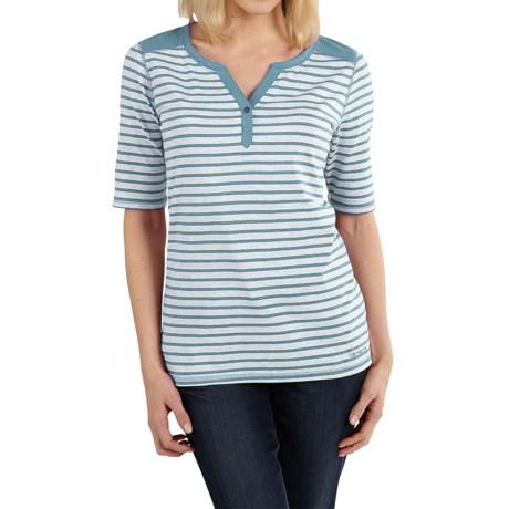 Carhartt Dorena Henley T-Shirt - Elbow Sleeve (For Women)