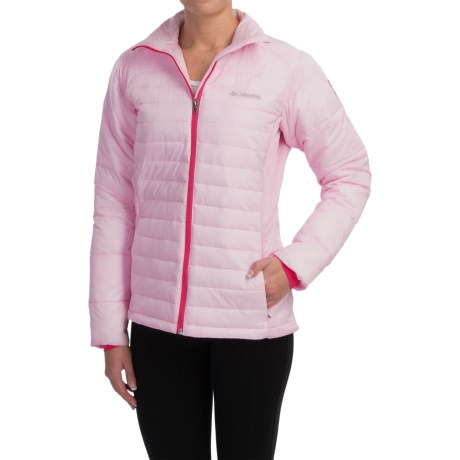 Columbia Sportswear Tough in Pink Hybrid Jacket - Insulated (For Women)