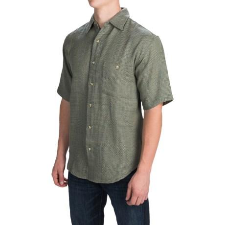 Button Front Shirt - Short Sleeve (For Men)