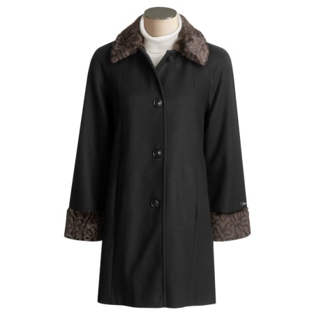 JP 1893 Wool Coat - Faux Fur Trim (For Women)