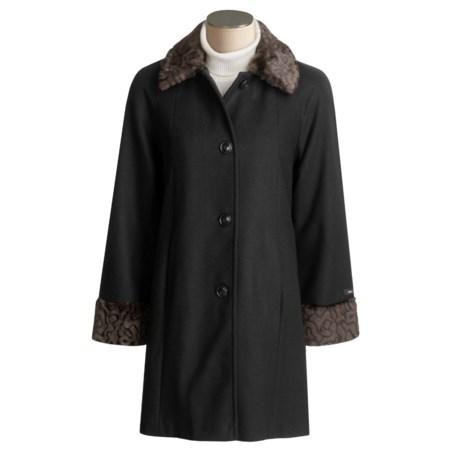 JP 1893 Wool Coat - Faux Fur Trim (For Women)