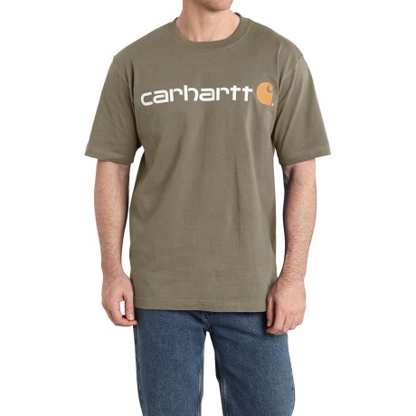Carhartt Jersey Knit Logo T-Shirt - Short Sleeve (For Men)