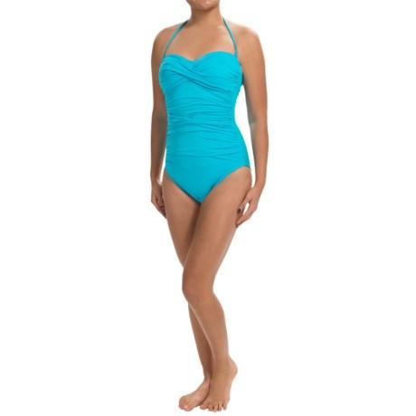 La Blanca One-Piece Bandeau Swimsuit (For Women)