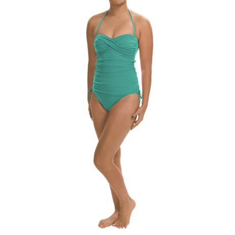 La Blanca One-Piece Bandeau Swimsuit - Side Cinched (For Women)
