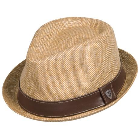 Dorfman Pacific Headwear Dorfman Pacific Matte Fedora - Toyo Straw (For Men)