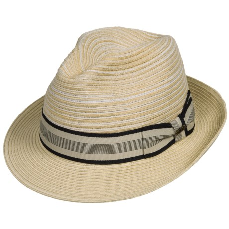Scala Polybraid Fedora - Toyo Straw (For Men)