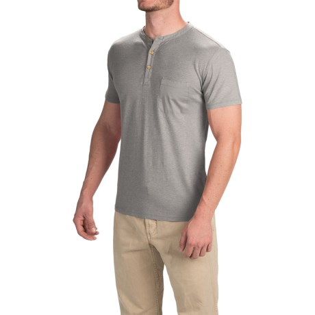 Gramicci Brody Henley Shirt - Hemp-Organic Cotton, Slim Fit, Short Sleeve (For Men)