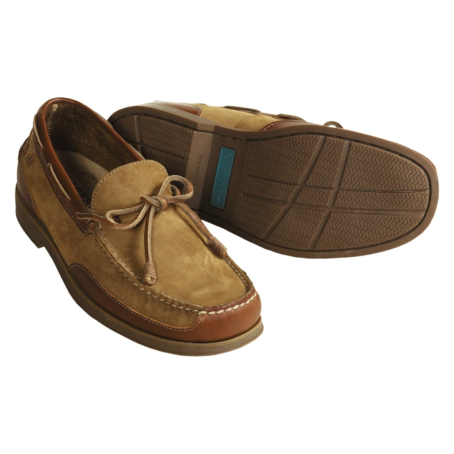These men's Sperry shoes look great with jeans, and are ideal for everyday wear for men of all ages. The slippers balance the comfort of wearing sneakers, the look of a more sophisticated shoe, and the reliability of a popular brand like Sperry.
