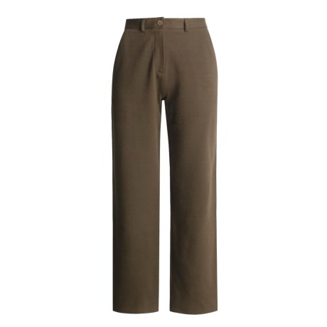 Joan Vass Twill Knit Pants - Medium Weight (For Women)