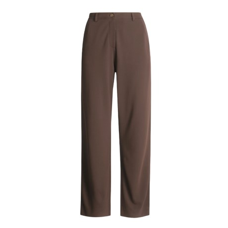 Joan Vass Stretch Rayon Knit Pants - Zip Front (For Women)