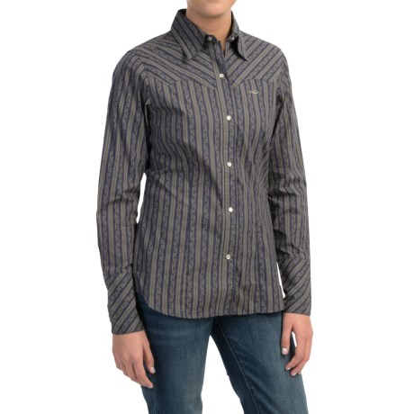 Roper Dotted Wallpaper Western Shirt - Snap Front, Long Sleeve (For Women)
