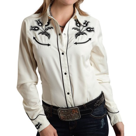 Roper Old West Classic Western Shirt - Snap Front, Long Sleeve (For Women)