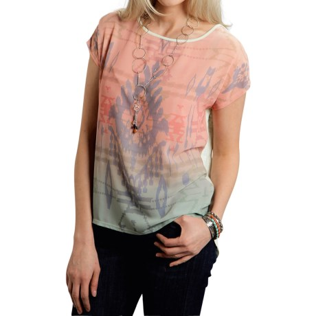 Roper Victorian Garden Shirt - Short Sleeve (For Women)