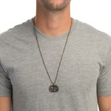 Max Reed Oxidized Brass Pendant Necklace (For Men)
