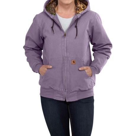 Carhartt Camo-Lined Sandstone Active Jacket - Factory Seconds (For Women)