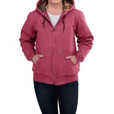 Carhartt Camo-Lined Sandstone Active Jacket (For Women)