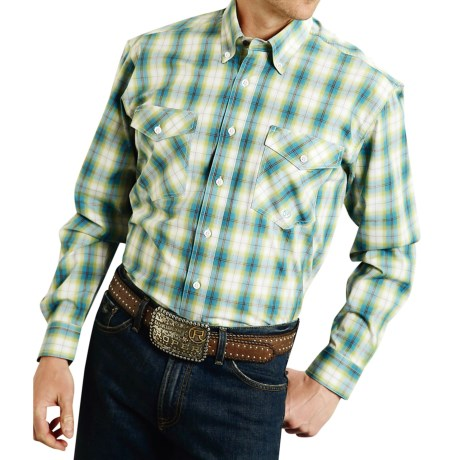 Roper Cotton Plaid Shirt - Button Front, Long Sleeve (For Men and Big Men)