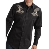 Roper Gun Embroidered Western Shirt - Snap Front, Long Sleeve (For Men and Big Men)