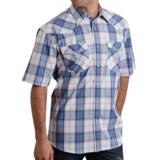 Roper Plaid Western Shirt - Snap Front, Short Sleeve (For Men and Big Men)