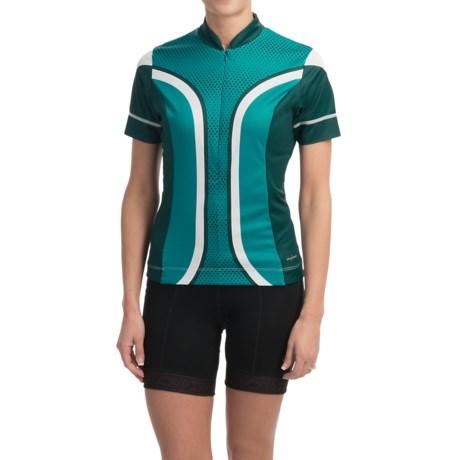 Shebeest S-Cut Cycling Jersey - UPF 45+, Short Sleeve (For Women)