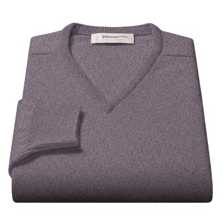 Johnstons of Elgin Scottish Cashmere Sweater - V-Neck (For Men)